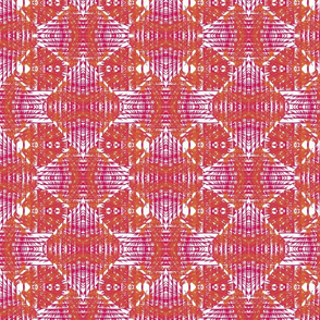 Patterned pink + mustard diamonds + stripes by Su_G_©SuSchaefer