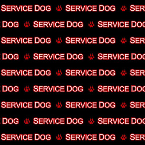Basic Service dog text - red