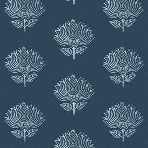 Japanese-flower-stamp-INDIGO