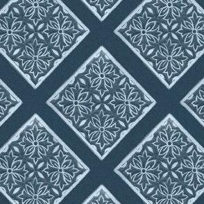 Japanese-fabric-stamp-diamond-diagonal-repeat-INDIGO