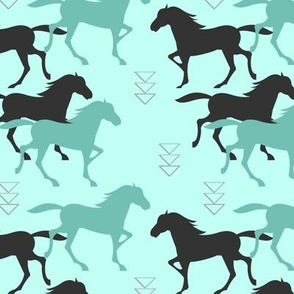 wild horses in mint
