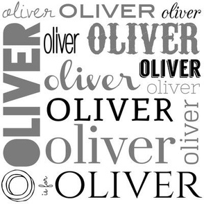 Oliver Personalized Fabric