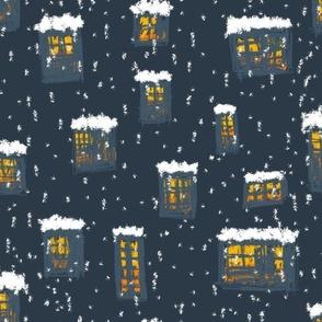 Snowy Night - Medium Scale