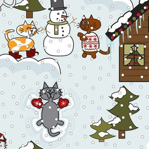 Kitty Snow Day