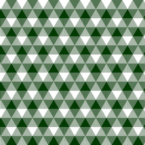 forest green triangle gingham