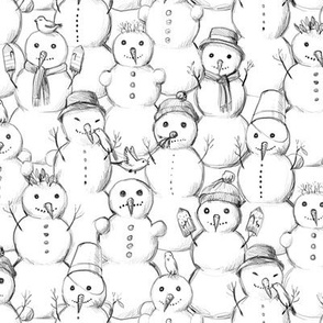 Snowmen on a snow day