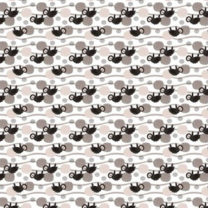 Adorable little baby sloth print jungle trees pura vida collection gender neutral beige black and white XXS