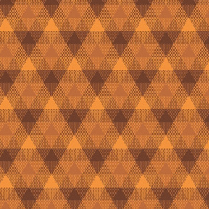 triangle gingham - bronze, brown, copper