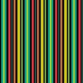 Pop Bot Stripe Black