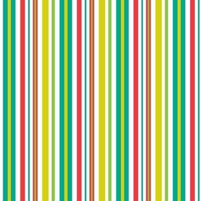 Pop Bot Stripe White
