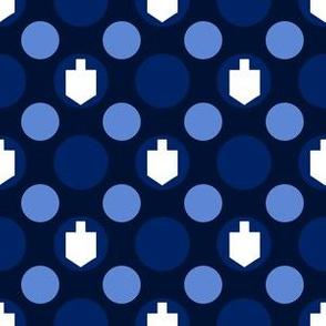 Hanukkah Dreidels and Dots
