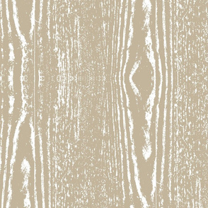 15-07G Wood Grain Wedding Knot Rustic White on Taupe Beige Bride_Miss Chiff Designs