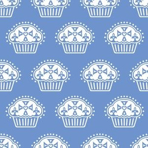 Keep Calm and Eat Cupcakes - blue