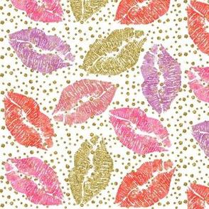 valentine glitter lips