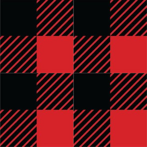 Buffalo plaid - 2 inches - Red & Black