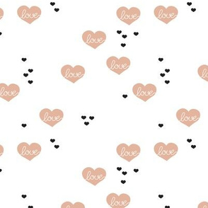 Sweet love scandinavian hearts cool pastel blue valentine and wedding theme beige SMALL