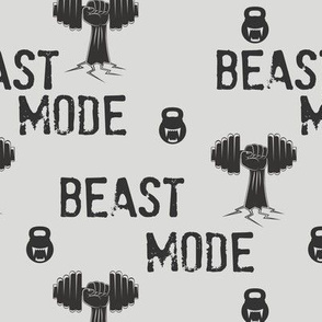 Beast mode, gym and fitness, kettlebells and crossfit, weight lifting