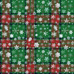 Christmas snowflake tartan (Maxwell, large snowflakes)