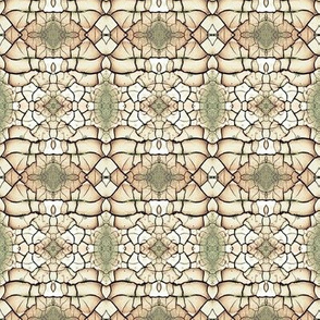 Stained Glass (Cream & Green)