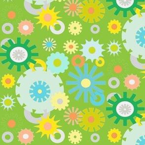 cog floral green