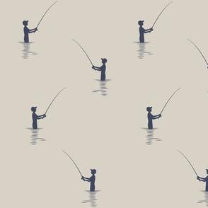 fishing on beige    adventure camp