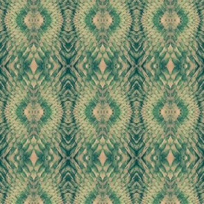 Snake Diamonds (Peach & Green)