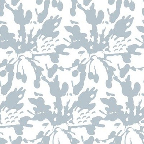 17-13T Dusty French Blue White Abstract Floral _ Miss Chiff Designs