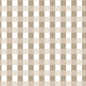 Check Gingham Tartan Beige Khaki White_Miss Chiff Designs