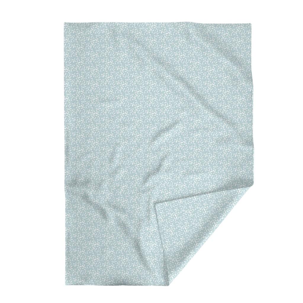 Lakenvelder Throw Blanket featuring Mistletoe_Bg light Cerulean by mia_valdez