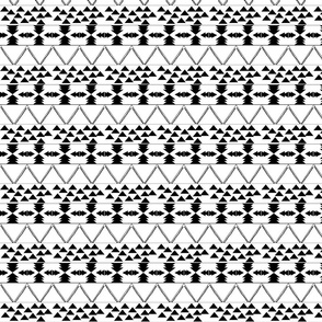 B & W Aztec Pattern- smaller