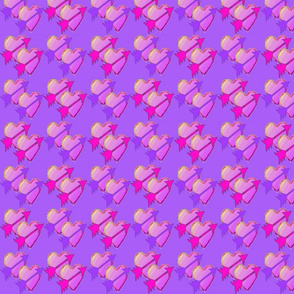 Arrow Hearts on Purple
