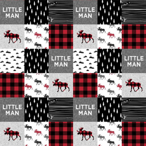 """3"""" small scale - little man patchwork quilt top 