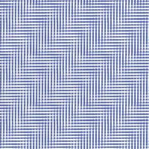 glitchy morning blue plaid