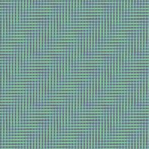 glitchy grey/blue/green gingham