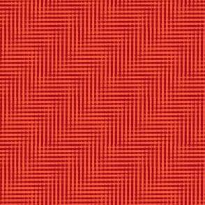 glitchy ruby-red plaid
