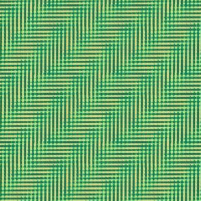 overlapping grasses serene green glitchy plaid
