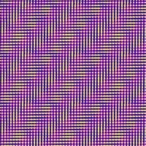 glitchy purple-pink-yellow plaid