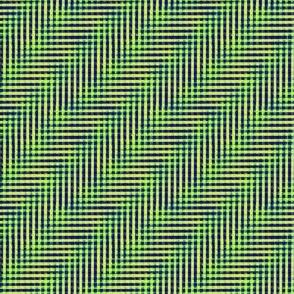 glitchy black - blue - green - yellow plaid