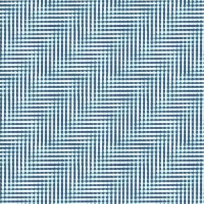 glitchy navy - light blue - white gingham