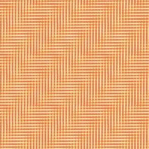 glitchy orange creamsicle gingham