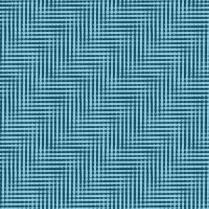 glitchy blue water ripple plaid