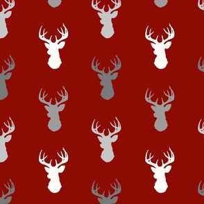Deer- Scarlet/Grey