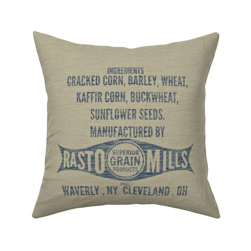 Catalan Throw Pillow featuring Grain/Feed Sack Lg  by franbail