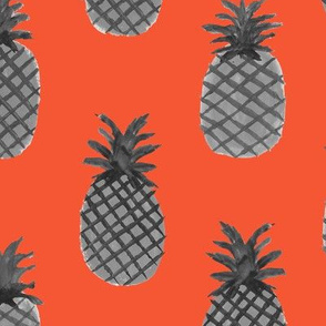 Red-Orange Pineapple by The Prime Floridian