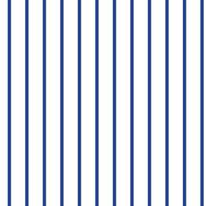 Royal Blue  Pin Stripe on White_Miss Chiff Designs