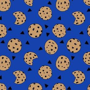 cookies // bright blue cookie fabric cute cookies cookie design kids fabrics