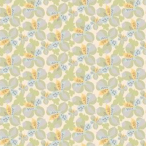 17-04P Antique Vintage Quilt Floral Pastel || Flower Sky Blue Olive Green Pastel Cream Yellow Gray grey _ Miss Chiff Designs