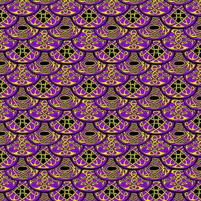 Celtic Clouds purple yellow black