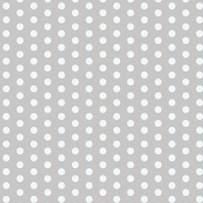 17-04J Silver Grey Gray White Polka Dot || Antique Vintage Quilt Neutral Spots _ Miss Chiff Designs