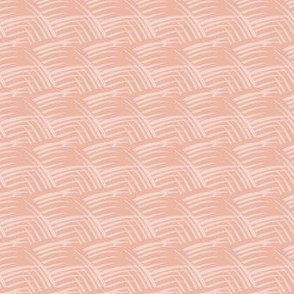 17-04D Vintage Antique Peach Rose Waves || Quilt Abstract  pastel fruit _ Miss Chiff Designs